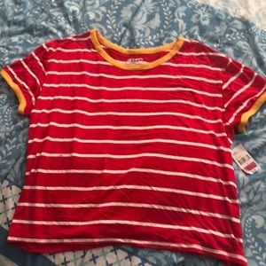 Ketchup/Mustard Stripper Cropped Tee